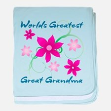 World's Greatest Great Grandma (Flowe baby blanket