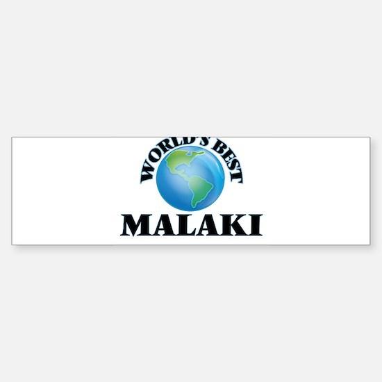 World's Best Malaki Bumper Car Car Sticker