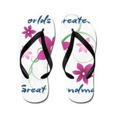 World's Greatest Great Grandma (Flowery Flip Flops