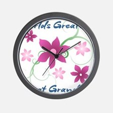 World's Greatest Great Grandma (Flowery Wall Clock