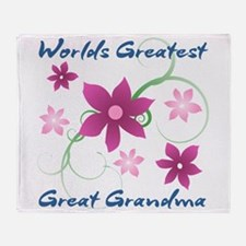 World's Greatest Great Grandma (Flow Throw Blanket