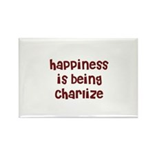 happiness is being Charlize Rectangle Magnet