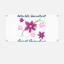 World's Greatest Great Grandma (Flowery) Banner