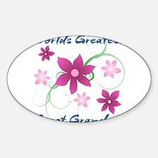World's Greatest Great Grandma (Flowery) Decal
