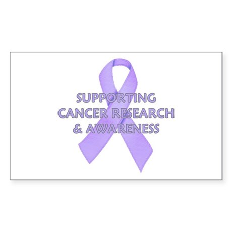 ...Cancer Research... Rectangle Sticker