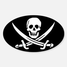 Calico Jack's Flag Oval Decal