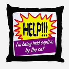 Being Held Captive Throw Pillow