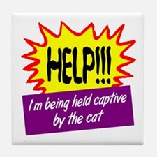 Being Held Captive Tile Coaster