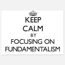 Keep Calm by focusing on Fundamentalis Invitations