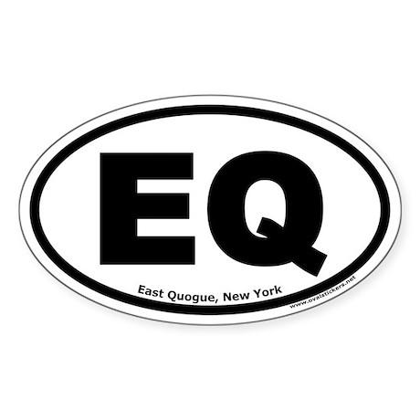"East Quogue, New York ""EQ"" Oval Sticker"