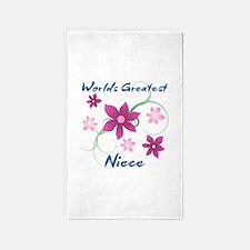 World's Greatest Niece (Flowery) 3'x5' Area Rug