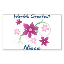 World's Greatest Niece (Flowery) Decal