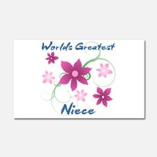 World's Greatest Niece (Flowery Car Magnet 20 x 12