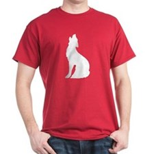 Howling Wolf Icon Crimson T-Shirt