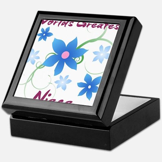 World's Greatest Niece (Flowery) Keepsake Box
