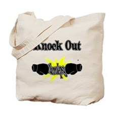 Knock Out narcolepsy black.png Tote Bag