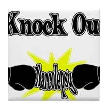Knock Out narcolepsy black.png Tile Coaster