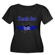 Knock Out Myositis blue.png Plus Size T-Shirt