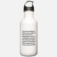 Lloyd Dobler Quote Water Bottle