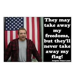 Eight Never Take Away My Flag Postcards