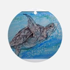 Sea turtle, wildlife art Ornament (Round)