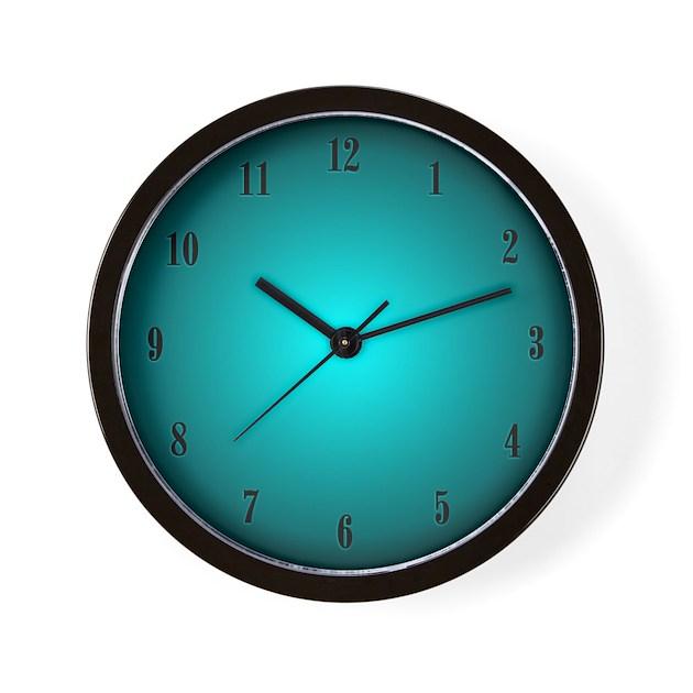 Aqua glow clock wall clock by admin cp11861778 for Glow in the dark wall clocks australia