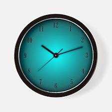 Aqua Glow Clock Wall Clock