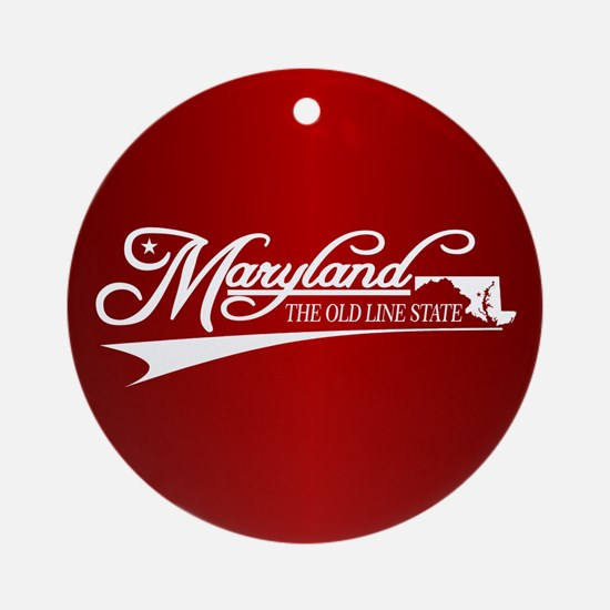 Maryland State of Mine Ornament (Round)