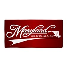 Maryland State of Mine Beach Towel