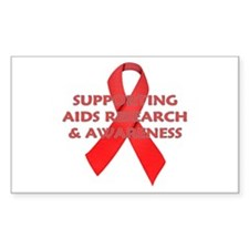 ...Aids Research... Rectangle Decal