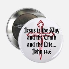 "Jesus Is The Way 2.25"" Button"