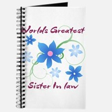 World's Greatest Sister-In-Law (Flowery) Journal