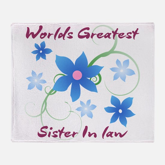 World's Greatest Sister-In-Law (Flow Throw Blanket