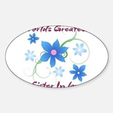 World's Greatest Sister-In-Law (Flowery) Decal