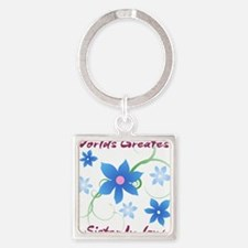 World's Greatest Sister-In-Law (Flowery) Keychains