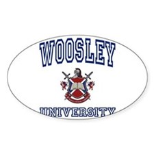 WOOSLEY University Oval Decal