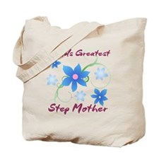World's Greatest Step Mother (Flowery) Tote Bag