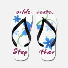 World's Greatest Step Mother (Flowery) Flip Flops