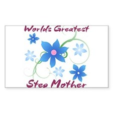 World's Greatest Step Mother (Flowery) Decal