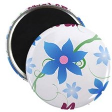 World's Greatest Step Mother (Flowery) Magnets