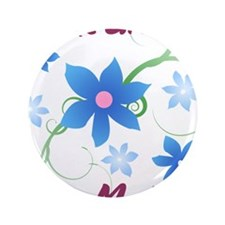 "World's Greatest Step Mother (Flowery) 3.5"" Button"