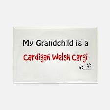 Cardigan Grandchild Rectangle Magnet