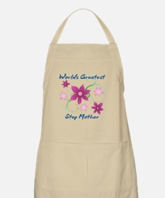 World's Greatest Step Mother (Flowery) Apron
