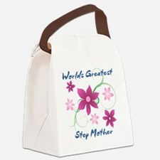 World's Greatest Step Mother (Flo Canvas Lunch Bag