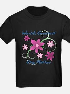 World's Greatest Step Mother (Flower T-Shirt