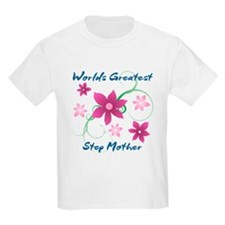 World's Greatest Step Mother (Flower T-Shirt