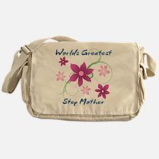 World's Greatest Step Mother (Flower Messenger Bag