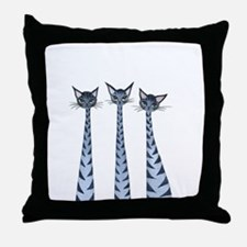 Vallejo Stray Cats Throw Pillow