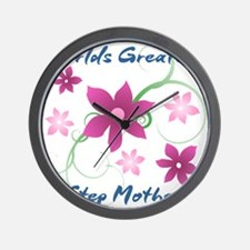 World's Greatest Step Mother (Flowery) Wall Clock