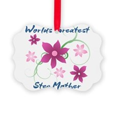 World's Greatest Step Mother (Flo Picture Ornament